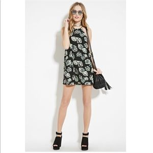 Leaf sleeveless dress
